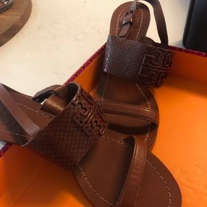 Tory Burch Lowell Brown sandal size 6